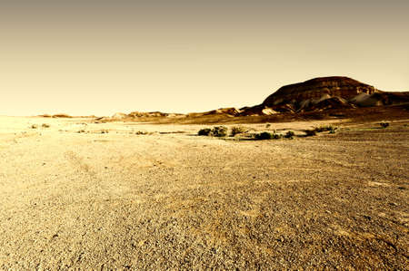 judean hills: Judean Desert on the West Bank of the Jordan River, Vintage Style Toned Picture