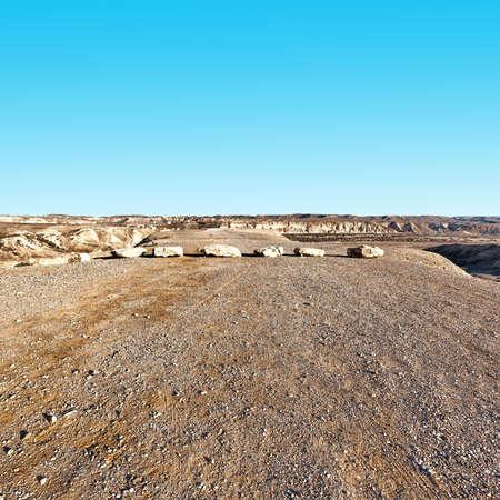 wojenne: Rocky Hills na pustyni Negew w Izraelu