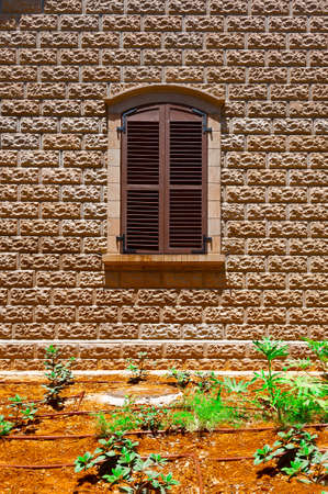 resplendence: Closed Window of Old Building in Tel Aviv, Israel