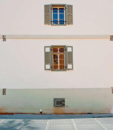 resplendence: Open Windows of Old Building in Tel Aviv, Israel