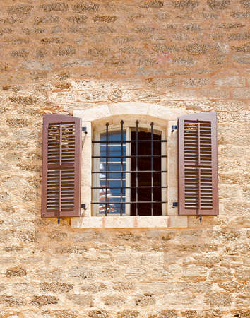 resplendence: Open Window of Old Building in Tel Aviv, Israel