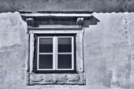 resplendence: Window in the Wall of Portuguese Home, Retro Image Filtered Style
