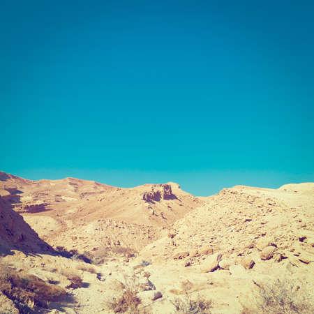 negev: Stones of Grand Crater in Negev Desert