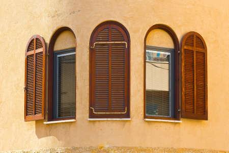 resplendence: Facade of Old Building after Reconstruction in Tel Aviv
