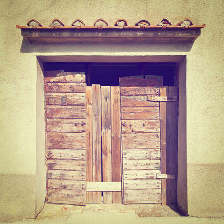 boarded up: Boarded up Gate of Italian Home, Instagram Effect