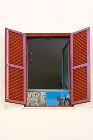 resplendence: Israel  Window with open Shutters in Tel Aviv