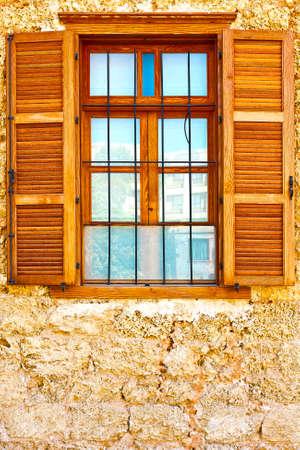resplendence: Window of Old Building after Reconstruction in Tel Aviv