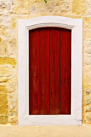 the shutter: French Window with Closed Wooden Shutter