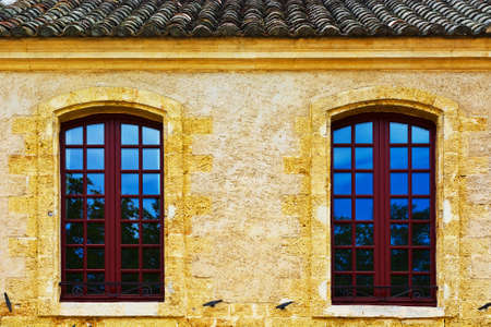 without windows: French Windows without  Shutters Stock Photo