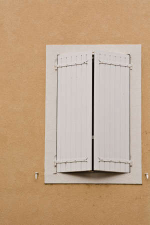 poorness: French Window with Closed Wooden Shutter