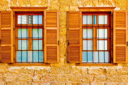 resplendence: Windows of Old Building after Reconstruction in Tel Aviv
