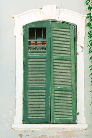 resplendence: Window of Old Building before Reconstruction in Tel Aviv