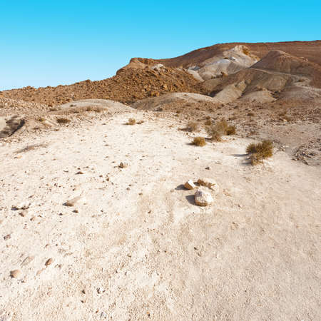 desert sand: Rocky Hills of the Negev Desert in Israel