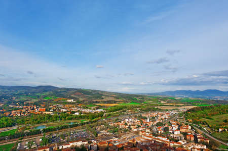 orvieto: Aerial View to the Italian City of Orvieto from the Medieval Castle