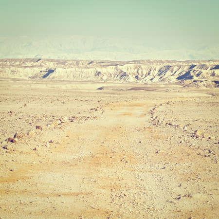 negev: Dirt Road of the Negev Desert in Israel, Instagram Effect