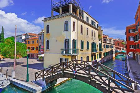 venice bridge: The Narrow Canal- the Street in Venice
