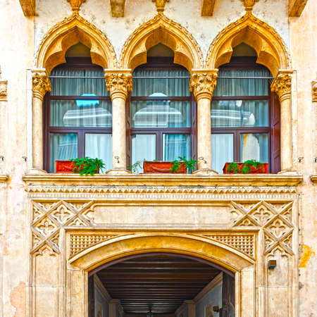 gateway: Balcony above the Gateway in the Italian City of Vicenza