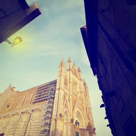 orvieto: Detail of Cathedral in Orvieto, Italy  Stock Photo