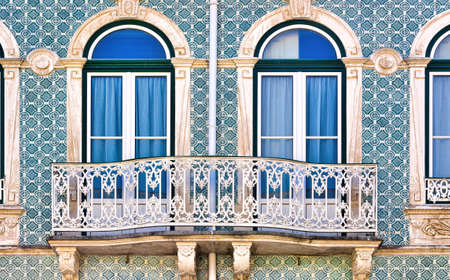 resplendence: Balcony Decorated with Portuguese Ceramic Tiles