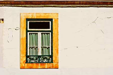 resplendence: Window of the Old Portugal House Stock Photo