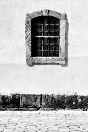 Window in the Wall of Portuguese Home, Retro Image Filtered Style