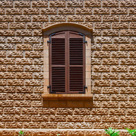 resplendence: Closed Window of Old Building in Tel Aviv, Israel
