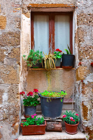 resplendence: Italian Window Decorated with Fresh Flowers