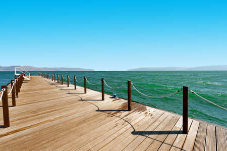 berth: Mooring Line on the Galilee Sea