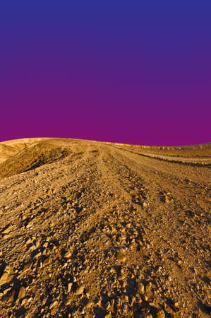 nature reserves of israel: Rocky Hills of the Negev Desert in Israel at Sunset