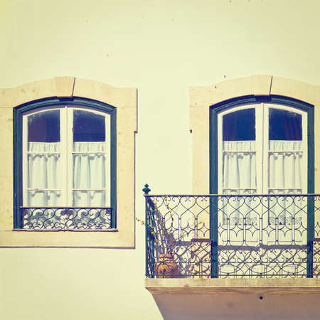 Portuguese Windows with a Balcony