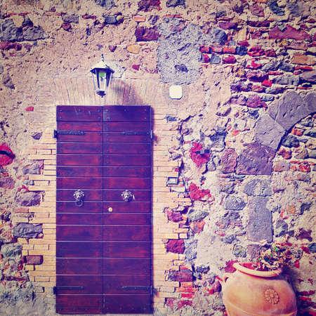 peg board: Wooden Ancient Italian Door in Historic Center,