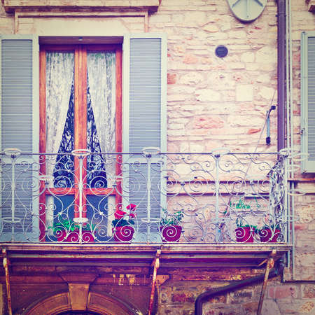 resplendence: Italian Balcony, Decorated With Fresh Flowers,