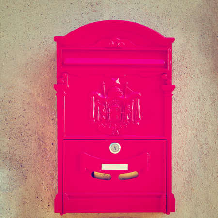 red post box: Red Post Box in Italy
