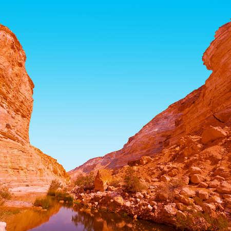 negev: Canyon En Avedat of the Negev Desert in Israel