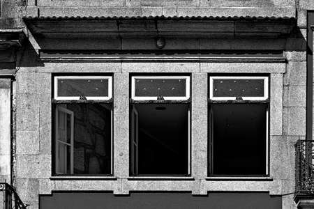 open windows: Open Windows of the Repaired Apartments of the Portuguese Home, Stylized Photo