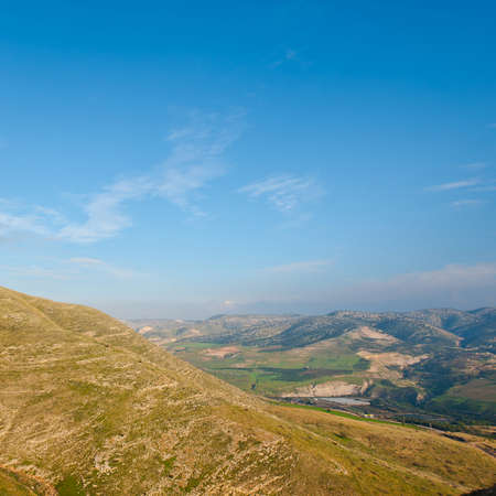 the golan heights: Mountains on the Golan Heights, Israel Stock Photo