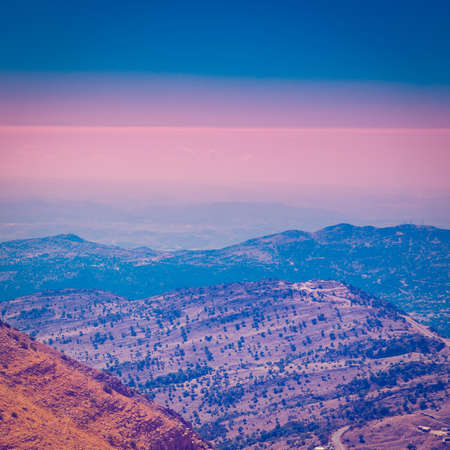 golan: View from Mount Hermon to the Golan Heights, Israel Stock Photo