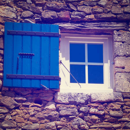 poorness: French Window with Open Wooden Shutter