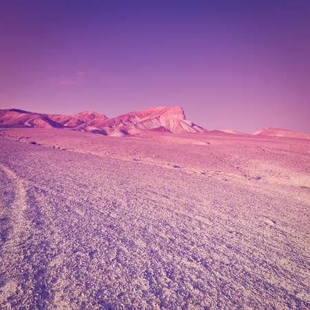 rive: Desert on the West Bank of the Jordan Rive, Sunset