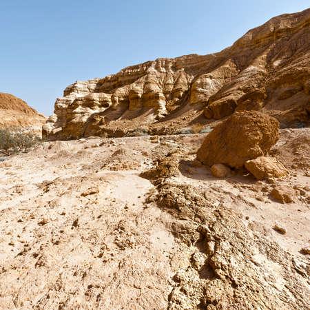 suelo arenoso: Sandy Hills of the Negev Desert in Israel