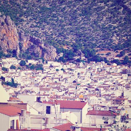birds eye view: Birds Eye View on the White Spanish City of Ubrique