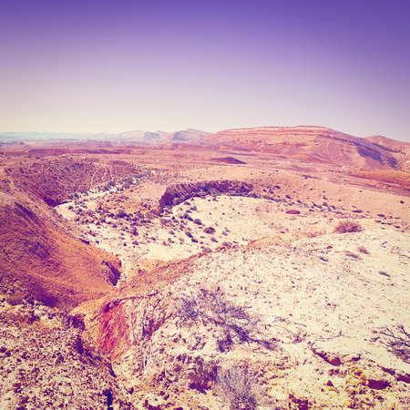 negev: Rocky Hills of the Negev Desert in Israel at Sunset,