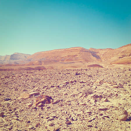 Rocky Hills of the Negev Desert in Israel,
