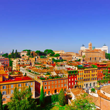 Aerial View of the Ancient Part of Rome