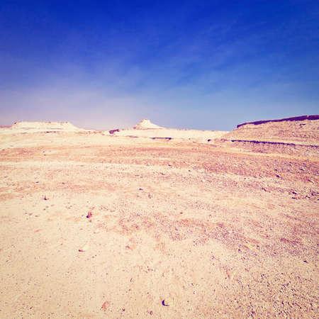 judean desert: Judean Desert on the West Bank of the Jordan River, Stock Photo