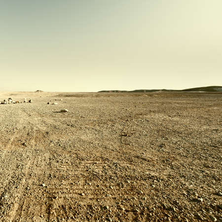 west bank: Judean Desert on the West Bank of the Jordan River, Retro Image Filtered Style