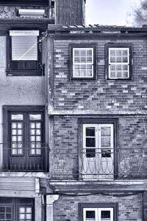 resplendence: Windows Decorated with Portuguese Ceramic Tiles, Retro Image Filtered Style