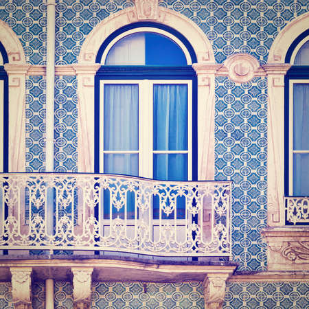 resplendence: Balcony Decorated with Portuguese Ceramic Tiles, Instagram Effect