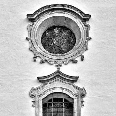 renovated: The Renovated Facade of the Old Portugal House, Retro Image Filtered Style