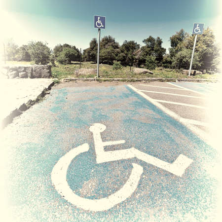 the golan heights: Parking for Disabled People on the Golan Heights in Israel